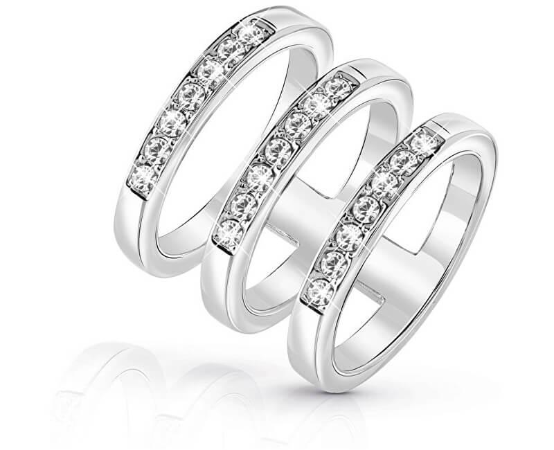 Guess Luxusní trojitý prsten UBR84036