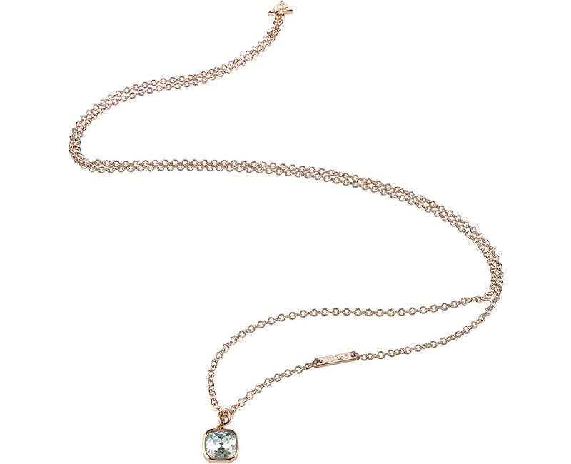 Guess Modă colier de bronz UBN83139