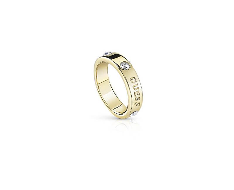 Guess Moda inel auriu cu cristale UBR84029