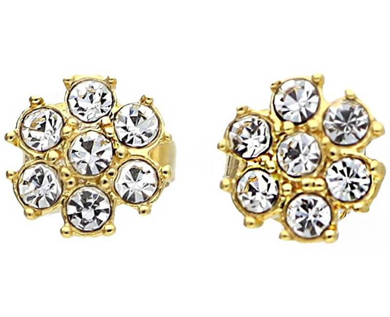 Guess Pozlacené náušnice s krystaly UBE21542 Výprodej f74999abd7b