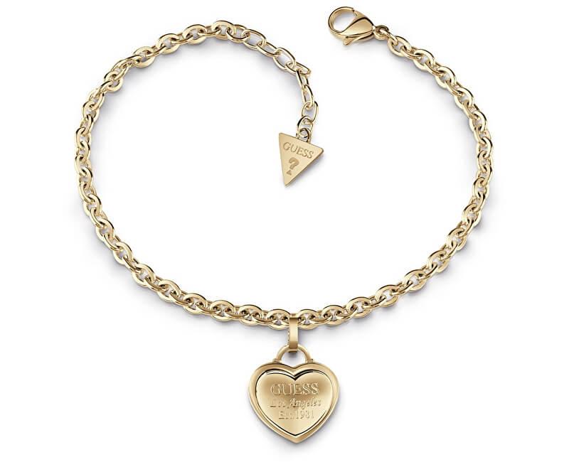 Guess Bratara aurita cu inima de UBB28025-S