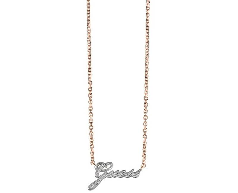 Guess Slušivý náhrdelník s krystaly UBN82055