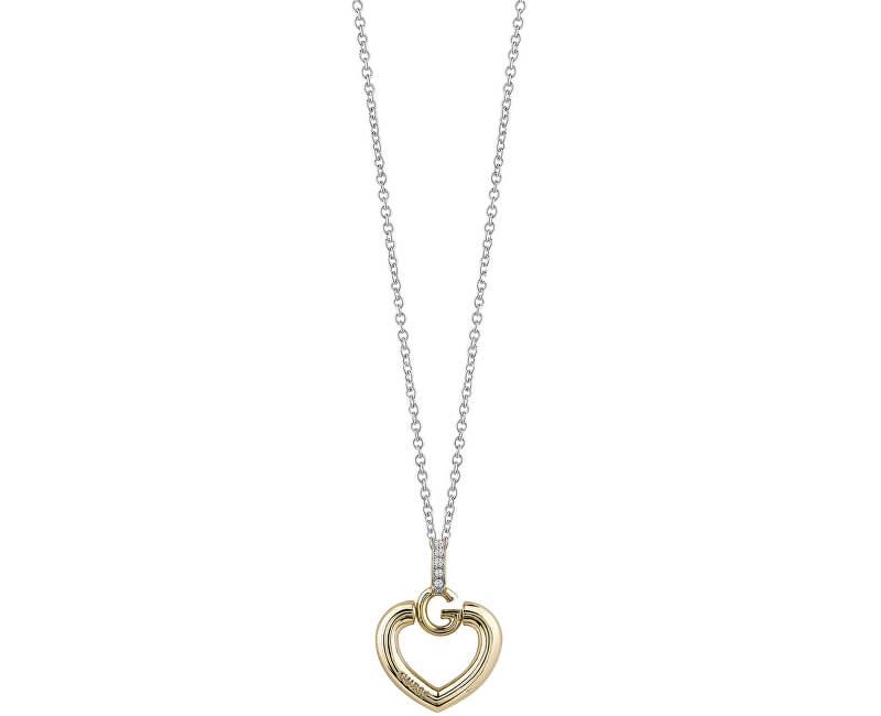 50e04fbd8 Guess Slušivý náhrdelník Srdce s krystaly UBN83010 Doprava ZDARMA ...