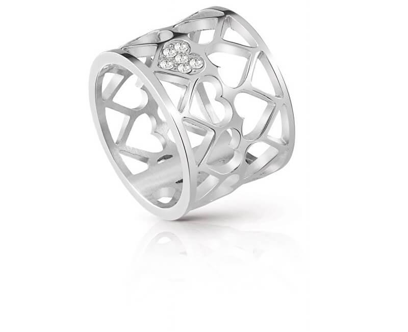Guess Srdíčkový prsten UBR85006
