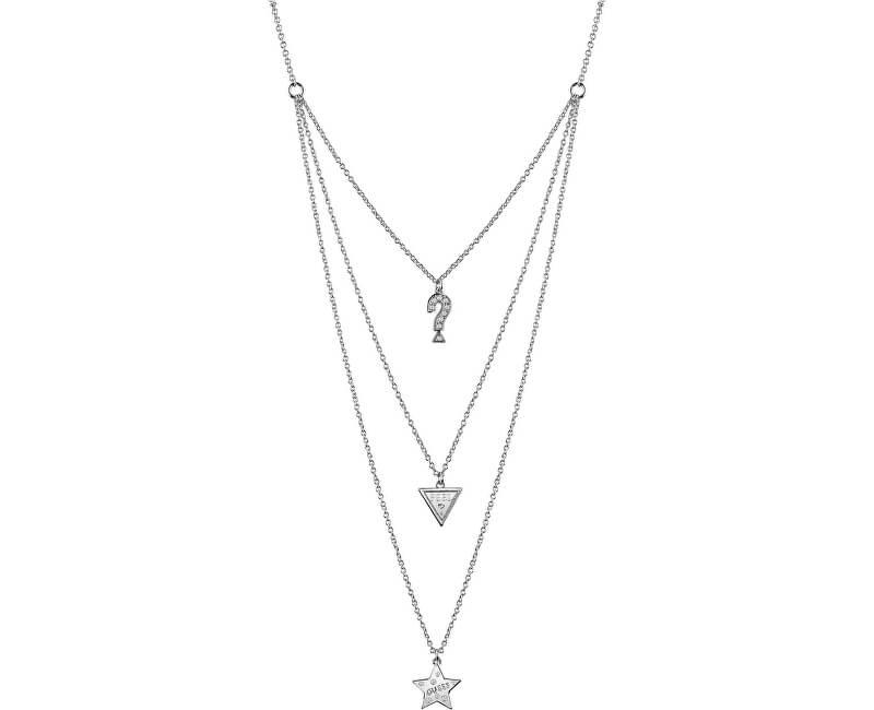 Guess Stylový náhrdelník s přívěsky UBN83065