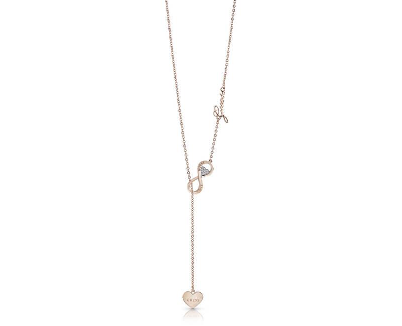 Guess Distinctă colier de bronz Endless Love UBN85015