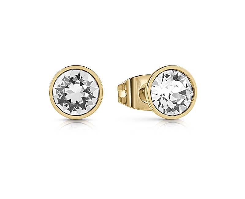 Guess Cercei placate cu aur cu cristal UBE28026