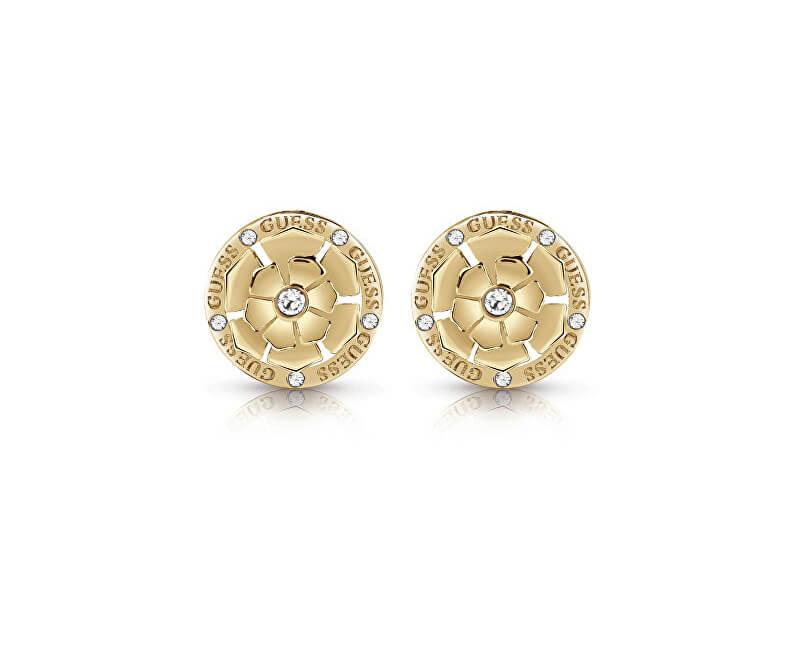 Guess Cercei placați cu aur cu cristale UBE28054