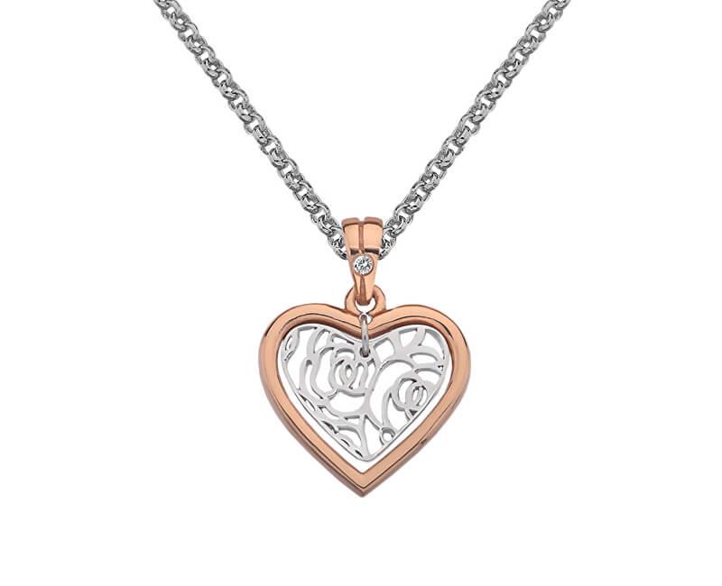 Hot Diamonds Bicolor náhrdelník Hot Diamonds Luxury DP657