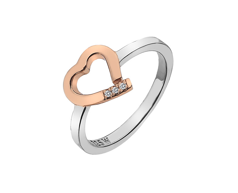 Hot Diamonds Bicolor prsten Hot Diamonds Love DR195