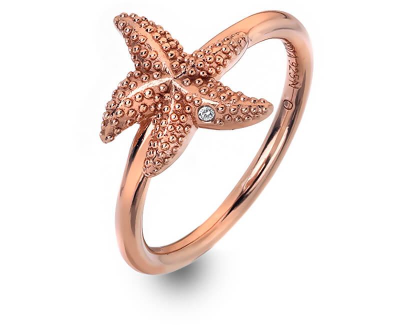 Hot Diamonds Luxusní růžově zlacený prsten s pravým diamantem Daisy RG DR212