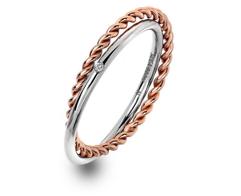 Hot Diamonds Luxusní stříbrný prsten s pravým diamantem Jasmine RG DR211