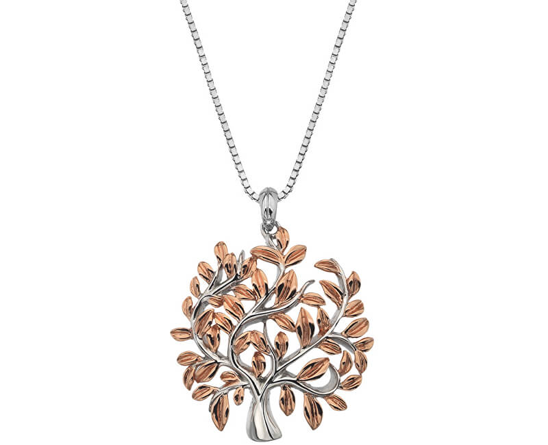 f1c30db8b Hot Diamonds Luxusní stříbrný náhrdelník se stromem života Jasmine DP701  (řetízek, přívěsek)