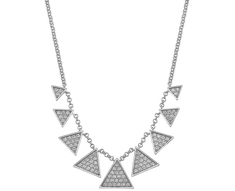 Hot Diamonds Colier de lux din argint cu zircon Emozioni Cleopatra EN001