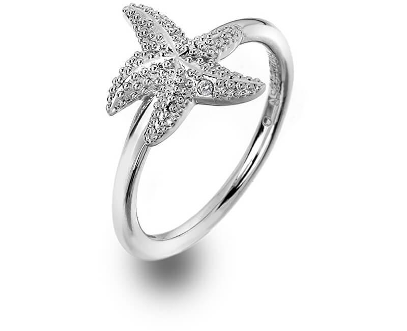 Hot Diamonds Luxusní stříbrný prsten s pravým diamantem Daisy DR213