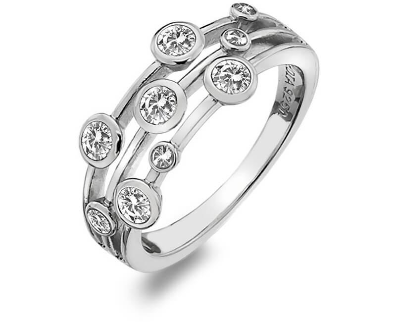d34b87fc3 Hot Diamonds Luxusní stříbrný prsten s topazy a diamantem Willow DR207