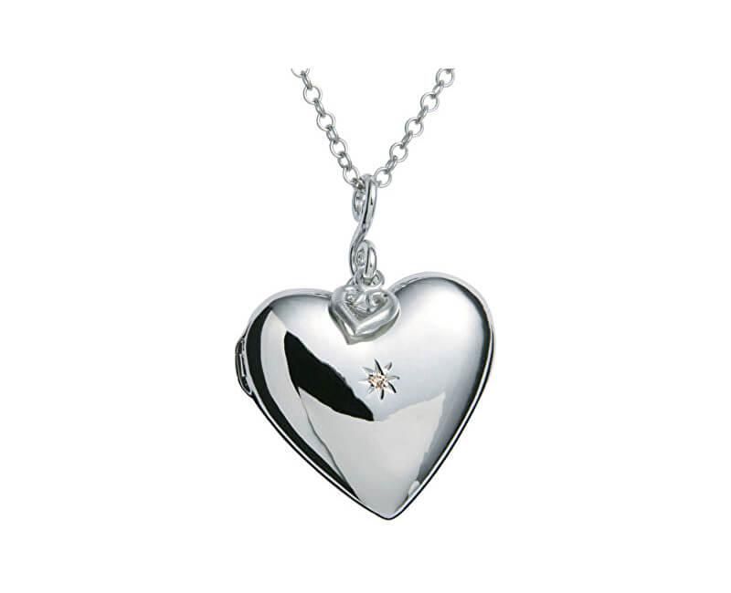 Hot Diamonds Náhrdelník Just Add Love Starry Heart DP132 (řetízek, přívěsek)