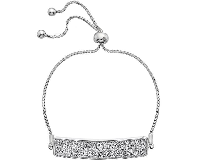 Hot Diamonds Brățară cu zirconii și diamant Crystal Clear Triple Row DL511