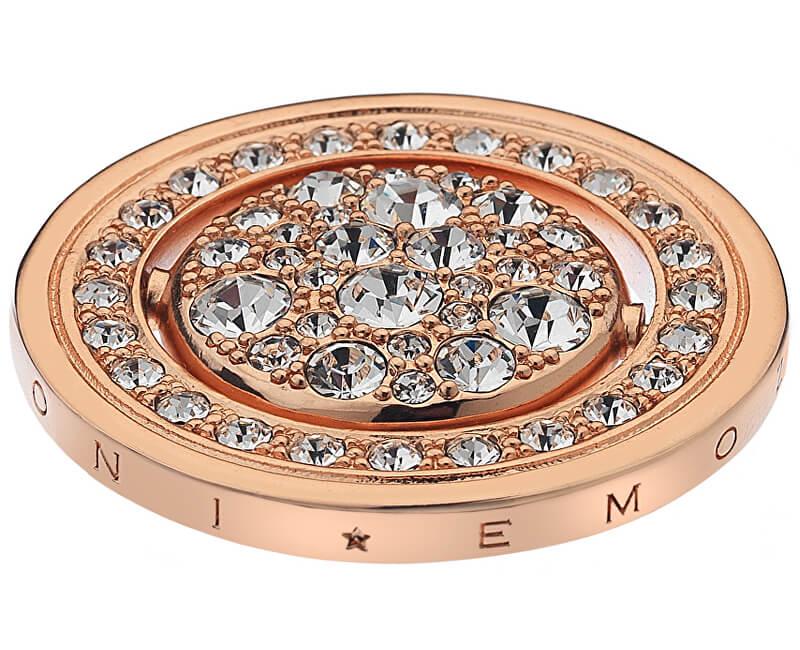 Hot Diamonds Přívěsek Hot Diamonds Emozioni Acqua e Aria Rose Gold Coin EC243-242