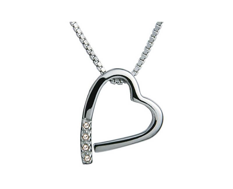 Hot Diamonds Náhrdelník Hot Diamonds Just Add Love Memories DP100 (řetízek, přívěsek)