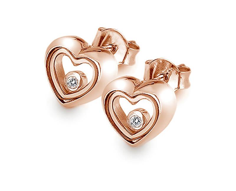 Hot Diamonds Růžově zlacené náušnice Anais AE014
