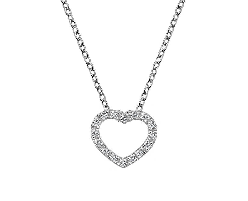 Hot Diamonds Srdíčkový náhrdelník Hot Diamonds Love DP662 (řetízek, přívěsek)