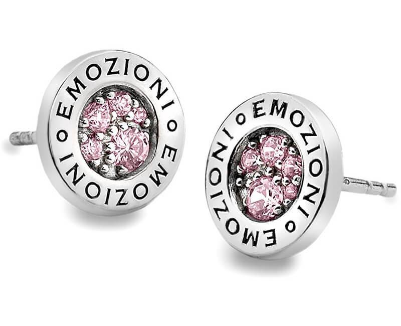 Hot Diamonds Strieborná náušnice Emozioni scintilla Pink Compassion EE002