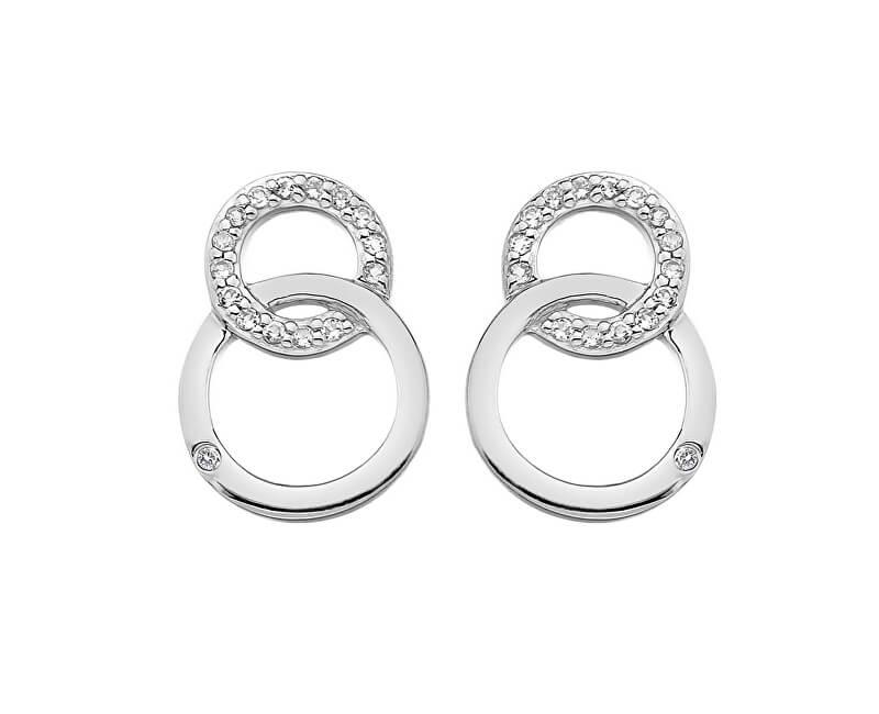 Hot Diamonds Stříbrné náušnice Hot Diamonds Love DE533