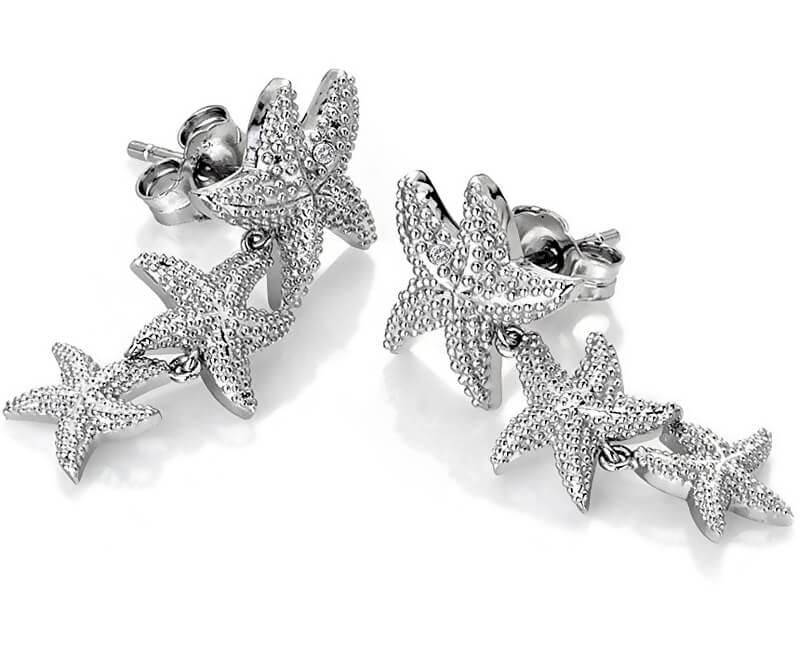 Hot Diamonds Stříbrné náušnice s pravými diamanty Daisy DE601