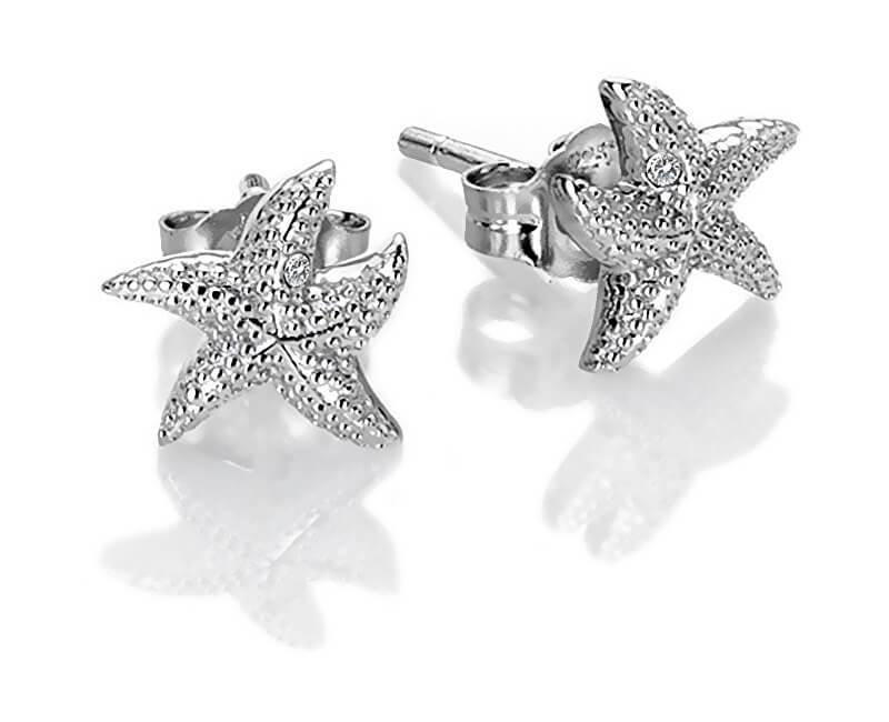 Hot Diamonds Cercei de argint cu diamante autentice Daisy DE604