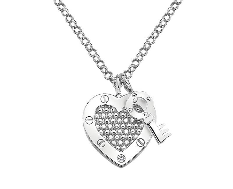 Hot Diamonds Stříbrný náhrdelník Hot Diamonds Love DP654 (řetízek, přívěsek)