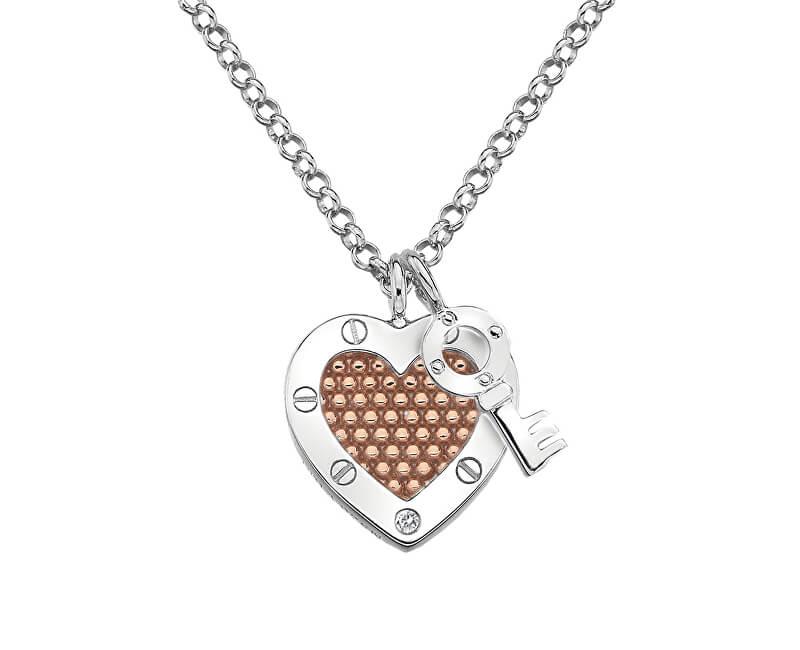 Hot Diamonds Stříbrný náhrdelník Hot Diamonds Love DP663 (řetízek, přívěsek)