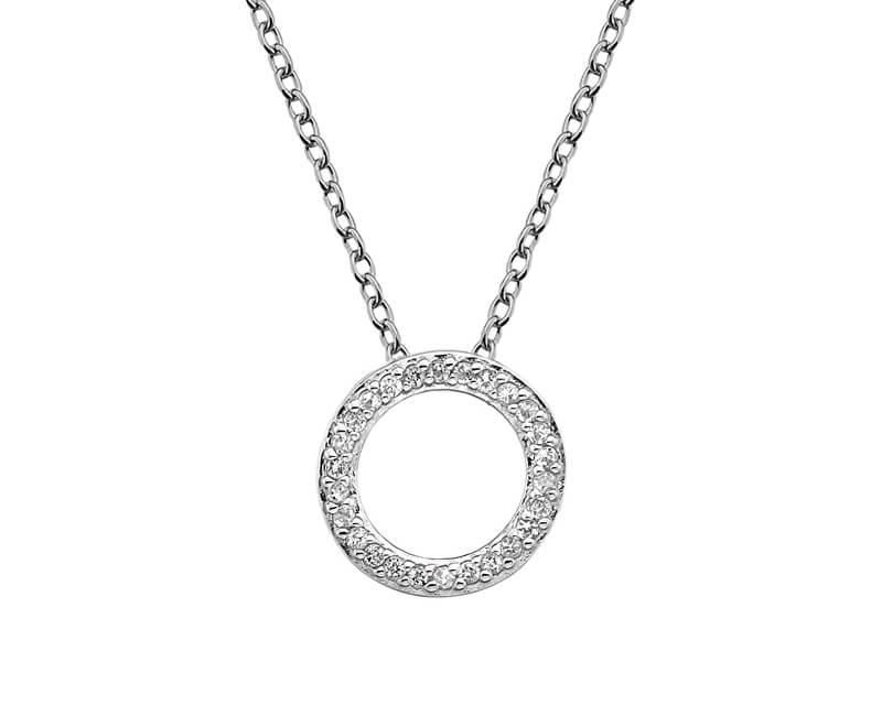 Hot Diamonds Stříbrný náhrdelník Hot Diamonds Love DP661 (řetízek, přívěsek)