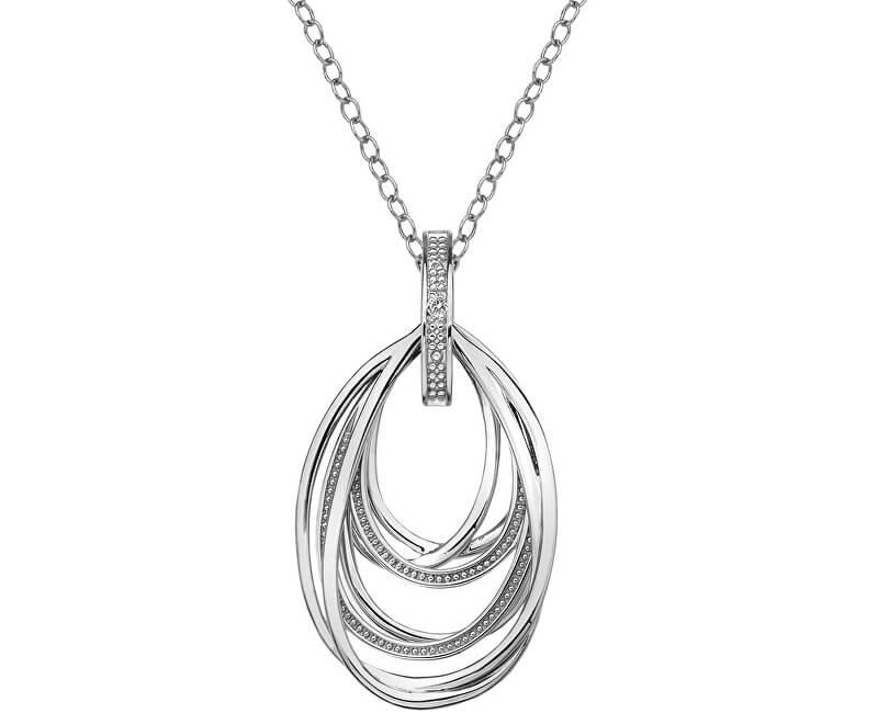 Hot Diamonds Strieborný náhrdelník s diamantom Chandelier Vintage DP651 (retiazka, prívesok)