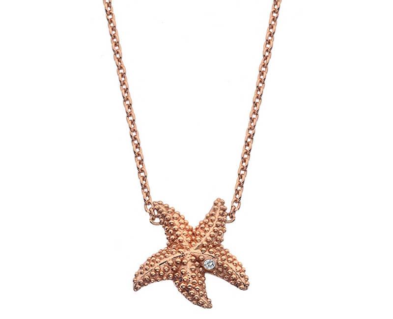 Hot Diamonds Colier auriu roz cu diamante veritabile Daisy RG DN133