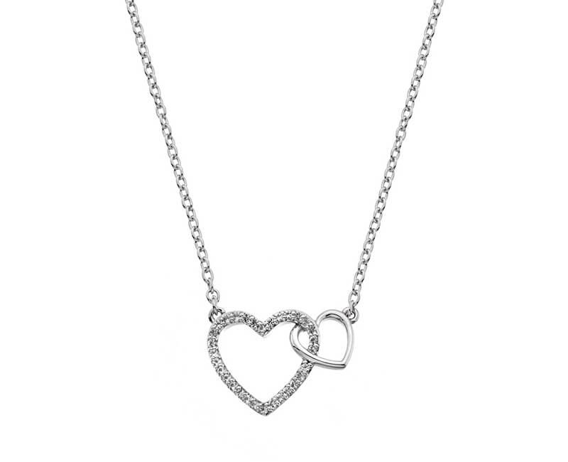 Hot Diamonds Stříbrný náhrdelník s pravým diamantem Flora DP731