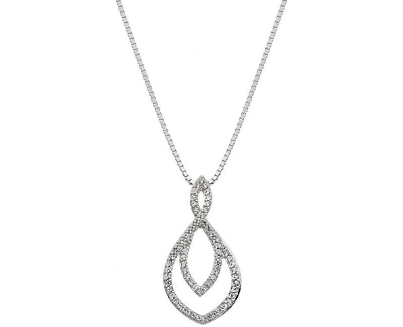 Hot Diamonds Stříbrný náhrdelník s pravým diamantem Lily DP733