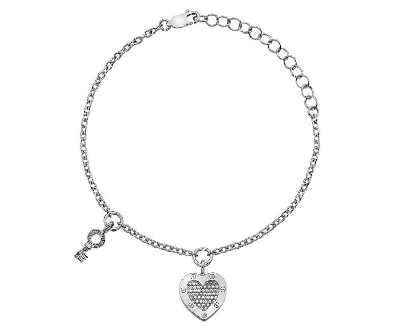 Hot Diamonds Stříbrný náramek Hot Diamonds Love DL561