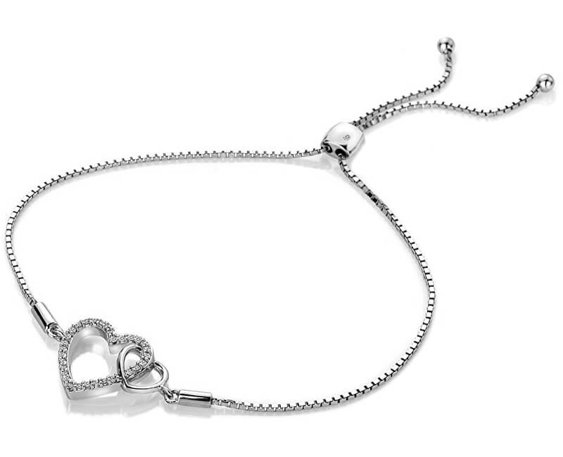 Hot Diamonds Brățară de argint cu diamant veritabil Flora DL589