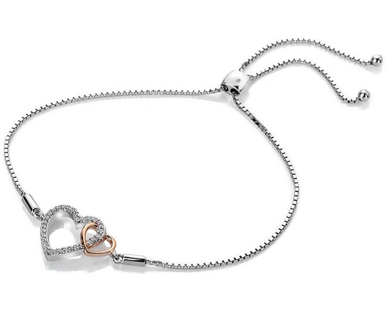 Hot Diamonds Stříbrný náramek s pravým diamantem Flora DL590