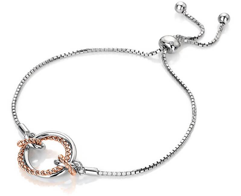 Hot Diamonds Stříbrný náramek s pravým diamantem Jasmine RG DL593