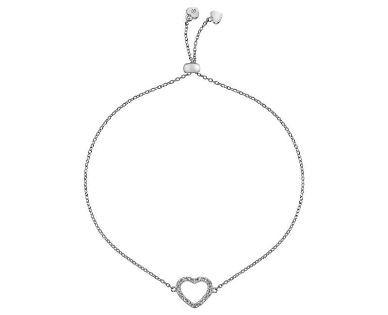 Hot Diamonds Stříbrný náramek se srdíčkem Love DL567