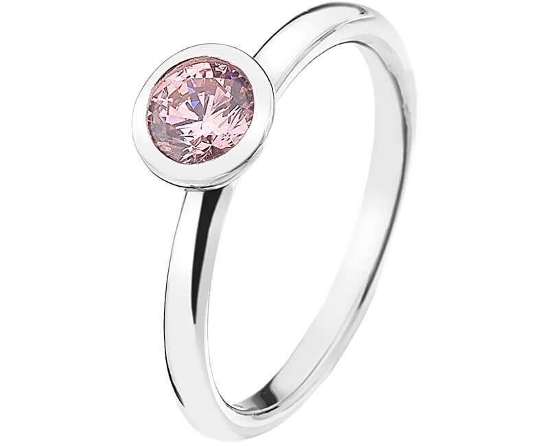 Hot Diamonds Strieborný prsteň Emozioni scintilla Pink Compassion ER017