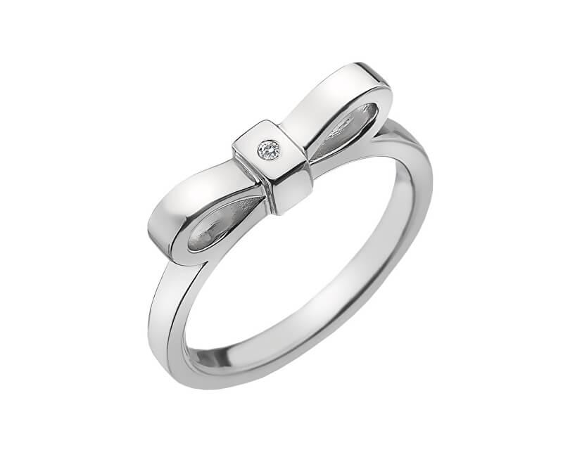 Hot Diamonds Stříbrný prsten Hot Diamonds Ribbon DR196