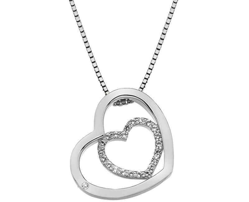 Hot Diamonds Stříbrný srdíčkový náhrdelník Adorable Encased DP691