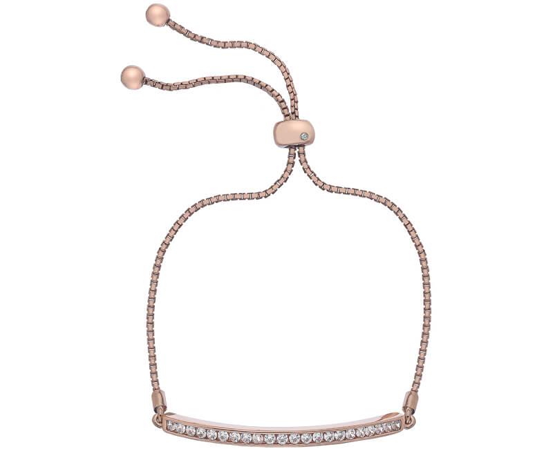 Hot Diamonds Brățară elegantă cu zirconi și diamant Crystal Clear DL517
