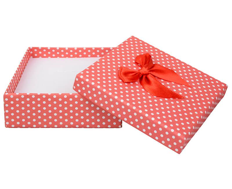 JK Box Puntíkatá krabička na soupravu šperků KK-5/A7