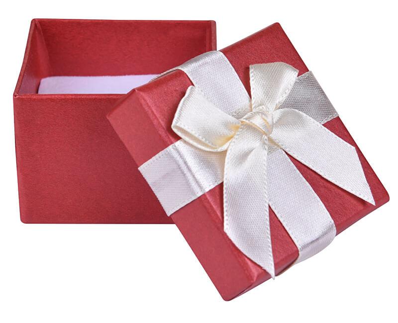 JK Box Červená krabička na náušnice nebo prsten AP-2/A10