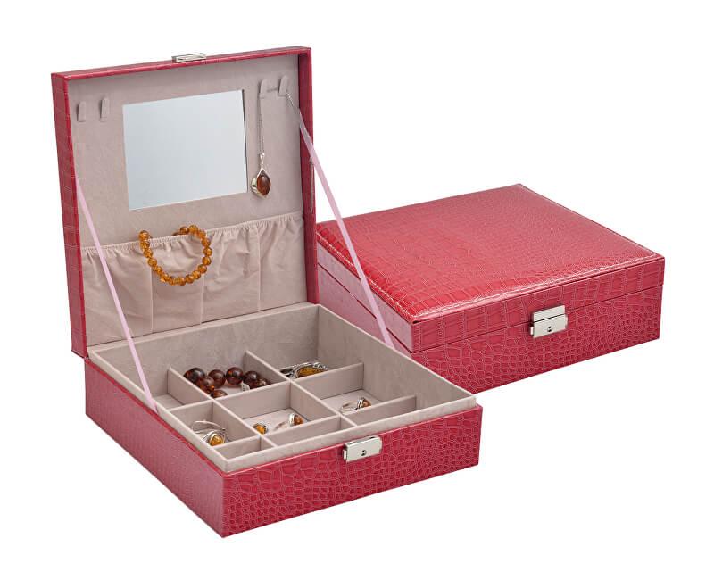 JK Box Červená šperkovnice SP-825/A4