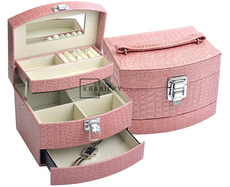 JK Box Růžová šperkovnice SP-304/A5/N